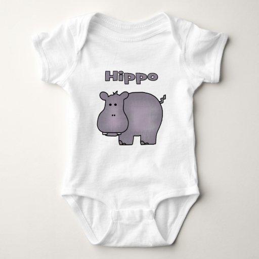 Hipopótamo lindo polera
