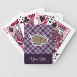 Hipopótamo lindo; Púrpura Baraja Cartas De Poker