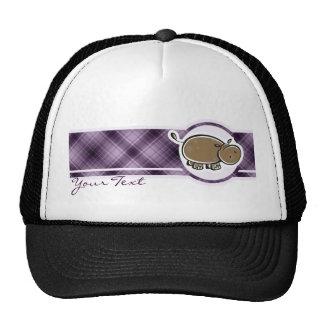 Hipopótamo lindo; Púrpura Gorras De Camionero