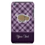 Hipopótamo lindo; Púrpura iPod Case-Mate Funda