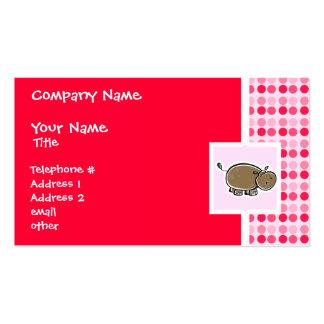 Hipopótamo lindo tarjetas de visita