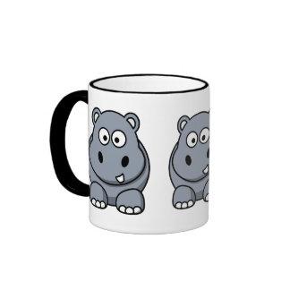 Hipopótamo lindo taza