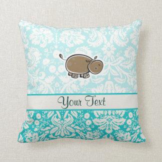 Hipopótamo lindo; Trullo Cojín