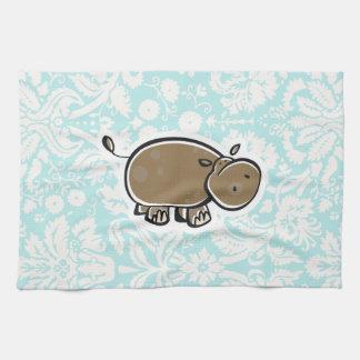 Hipopótamo lindo Trullo Toallas