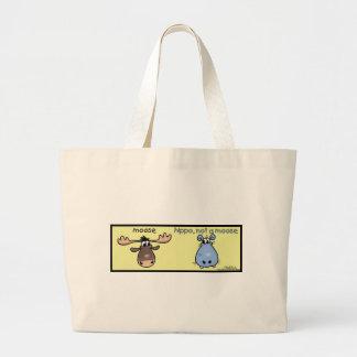 ¡Hipopótamo-no-uno-alces! Bolsa Tela Grande