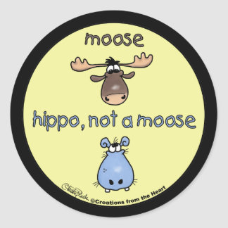 ¡Hipopótamo-no-uno-alces! Pegatinas Redondas