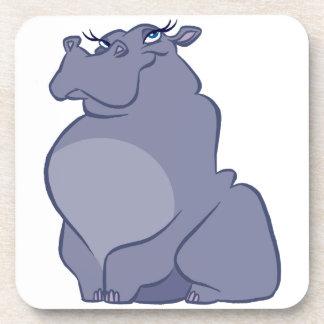 Hipopótamo para el navidad posavasos de bebidas