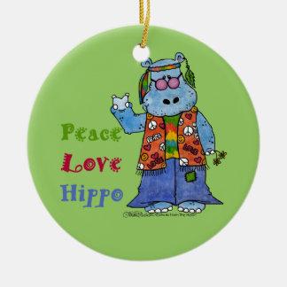 Hipopótamo-Paz del Hippie, amor, hipopótamo Ornatos