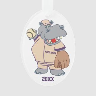 Hipopótamo personalizado lindo del béisbol de los