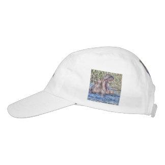 hipopótamo pintado gorra de alto rendimiento