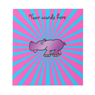 Hipopótamo púrpura en resplandor solar rosado blocs