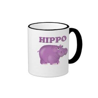 Hipopótamo púrpura taza de café