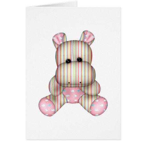 hipopótamo rayado soñador tarjeta de felicitación