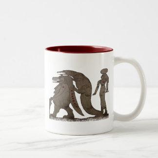 Hipopótamo, regalos de Croc y de ISIS/saludos egip Taza De Café