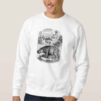 Hipopótamo retro personalizado bebé del sudadera