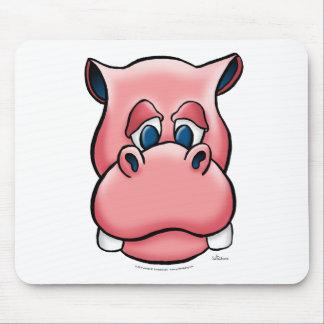 Hipopótamo rosa tapetes de ratones