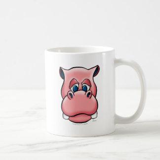 Hipopótamo (rosa) tazas de café