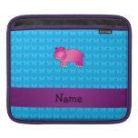 Hipopótamo rosado conocido personalizado funda para iPads