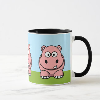 Hipopótamo rosado lindo