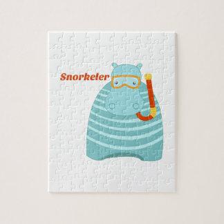 Hipopótamo Snorkeler Puzzles