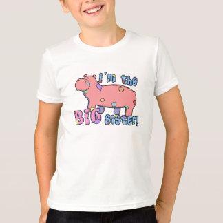 Hipopótamo soy la camiseta de la hermana grande