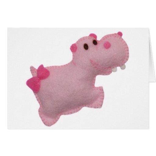 Hipopótamo Tarjeta De Felicitación