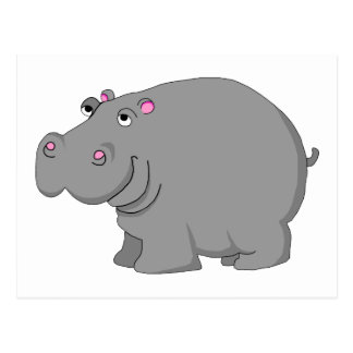 hipopótamo tarjeta postal