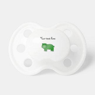 Hipopótamo verde lindo chupetes para bebés
