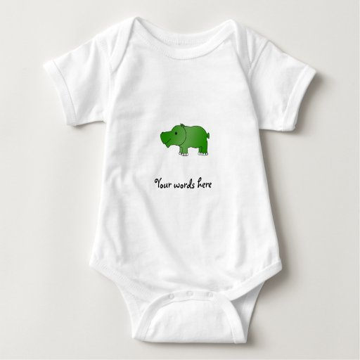 Hipopótamo verde lindo playera
