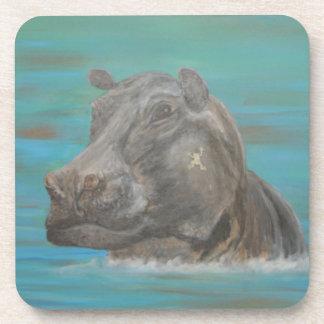 Hipopótamo y rana, Hippopotamus Posavasos De Bebida