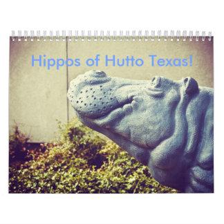 ¡Hipopótamos de Hutto Tejas! II Calendario