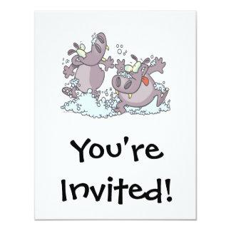 hipopótamos divertidos del juerguista en dibujo comunicado personalizado