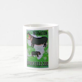 ¡Hipopótamos en el parque zoológico de Brookfield! Taza De Café