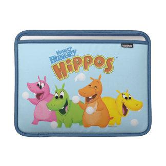 Hipopótamos hambrientos hambrientos funda para macbook air