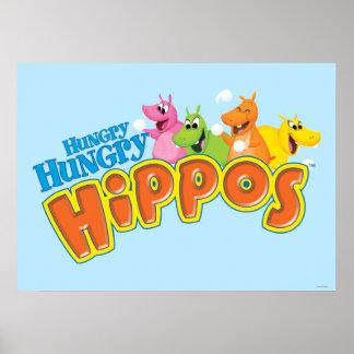 Hipopótamos hambrientos hambrientos póster