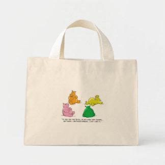 ¡Hipopótamos hambrientos! - Tote minúsculo Bolsas De Mano
