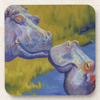 hipopótamos posavasos de bebida