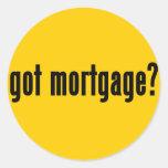 ¿hipoteca conseguida? etiqueta redonda