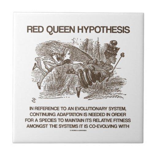 Hipótesis roja de la reina (reina roja de Alicia d Azulejo Cuadrado Pequeño