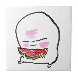 Hipper a Eats Watermelon Tile