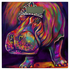 Hippest Hippo Bathroom Scale at Zazzle