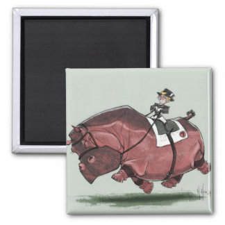 Hippestrian 2 Inch Square Magnet