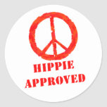 Hippie Approved Round Stickers