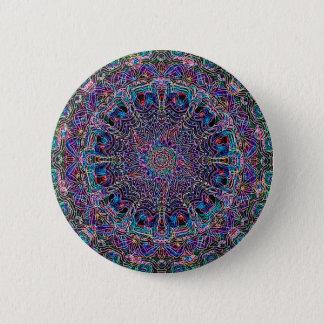 Hippie Art Psychadelic Print Pinback Button