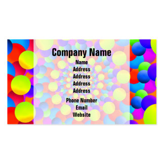 Hippie Art Rainbow Spiral Fractal Business Card