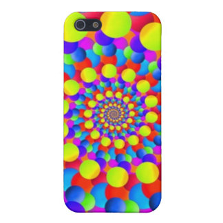 Hippie Art Rainbow Spiral Fractal Cover For iPhone 5/5S