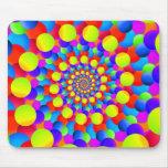 Hippie Art Rainbow Spiral Fractal Mousepad