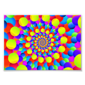 Hippie Art Rainbow Spiral Fractal Photo Art