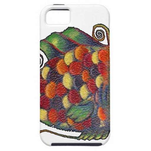 Hippie artsy de los pescados caprichosos impresion iPhone 5 cárcasa