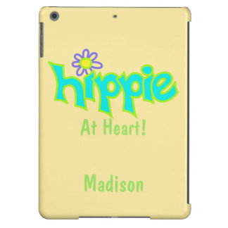 Hippie at Heart Turquoise Name Personanalized iPad Air Case